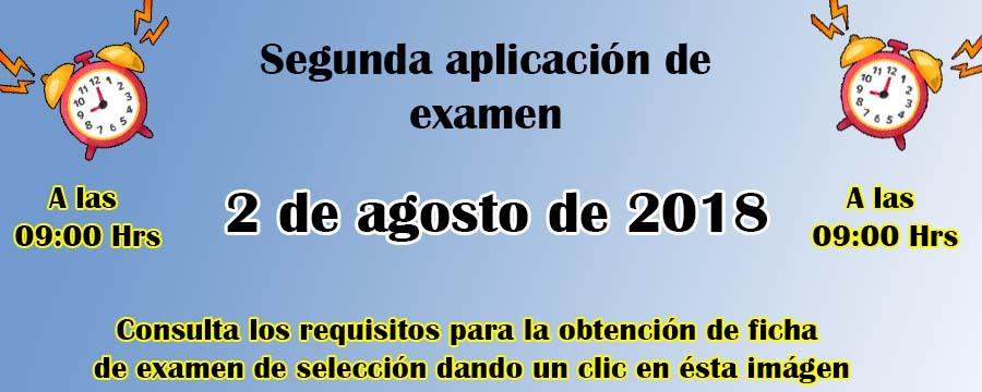 Segunda Aplicación de Examen