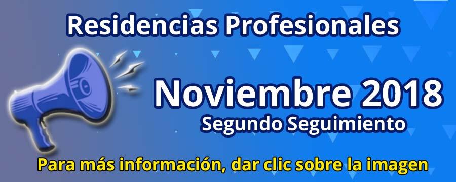 Residencias Profesionales Noviembre 2018